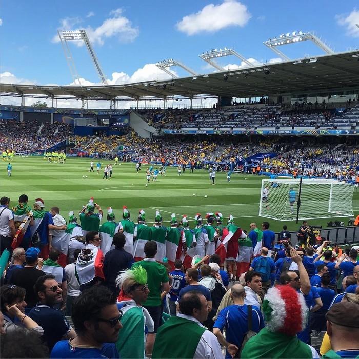 Stadium de Toulouse với những khán giả cuồng nhiệt