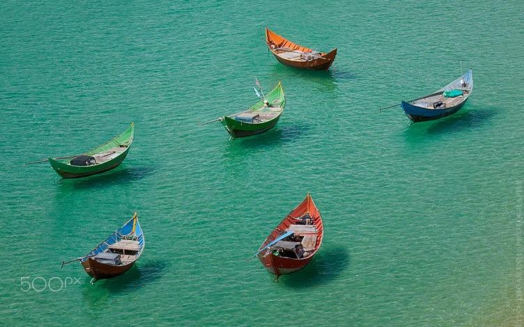 Bức ảnh mang tên Sắc màu cực kỳ ấn tượng ở biển Quy Nhơn