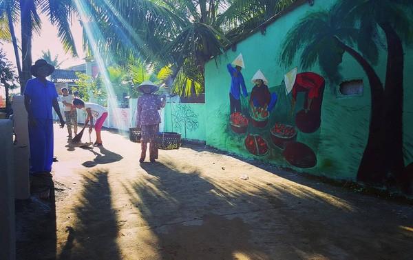 Các mảng tường màu sắc xuất hiện ở khắp mọi nơi