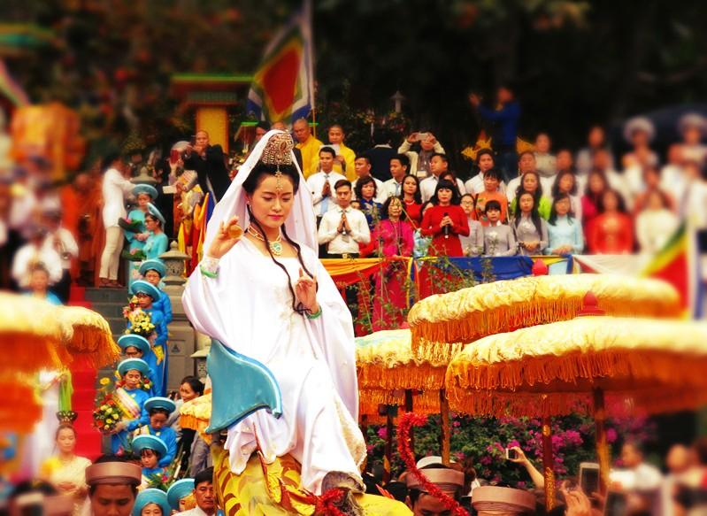 Trong đó lễ hội Quán Thế Âm được công nhận là một trong những lễ hội cấp quốc gia