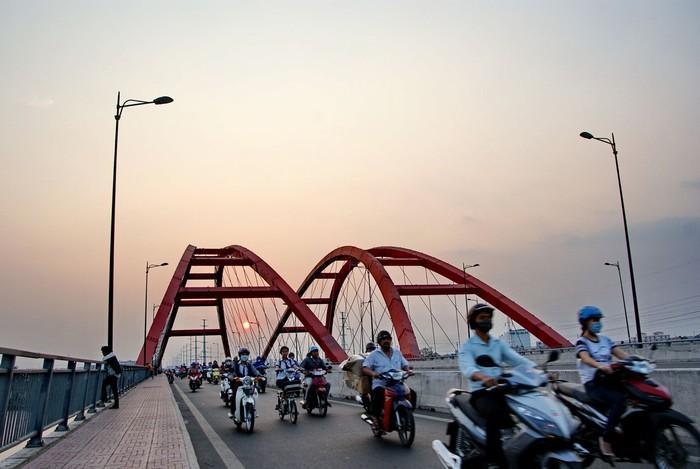 Bon bon trên những con đường Sài Gòn