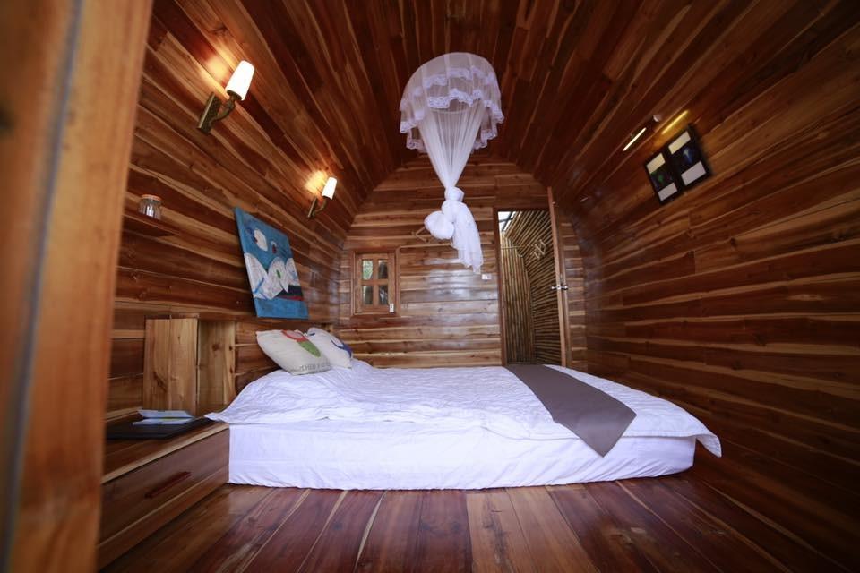 Không gian trong từng lều vịt