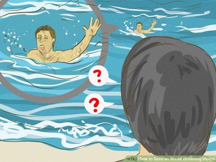 Làm thế nào khi gặp người bị đuối nước trong khi đi du lịch - Ảnh: WikiHow
