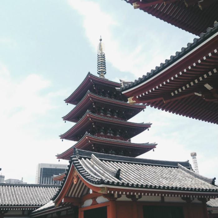 Đền Sensoji mang vẻ đẹp truyền thống của xứ Phù Tang