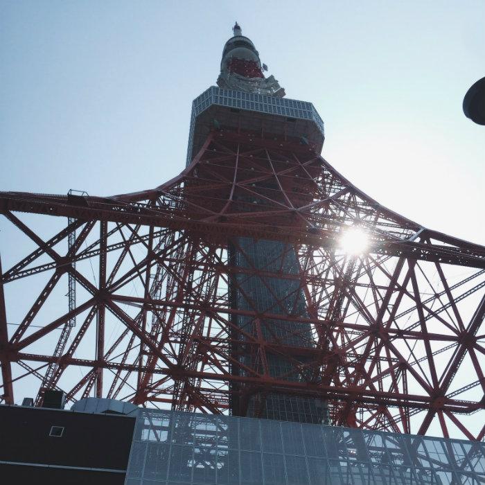 Dưới chân tháp Tokyo