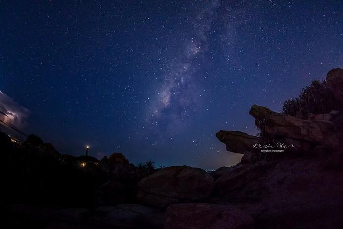 Bầu trời chi chít những vì sao ở Kê Gà