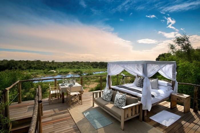 Không gian mở hoàn toàn của những ngôi nhà trên cây ở Nam Phi