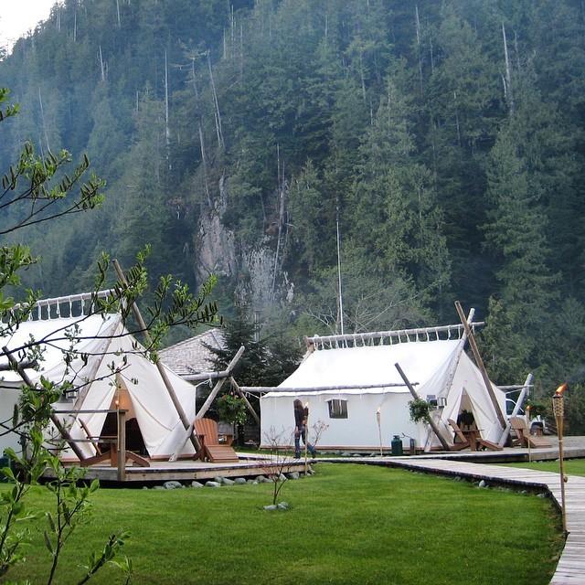 Những căn lều trắng của Clayoquot Wilderness
