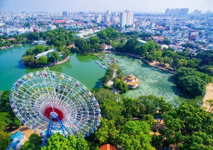 Công viên văn hóa Đầm Sen qua ống kính flycam