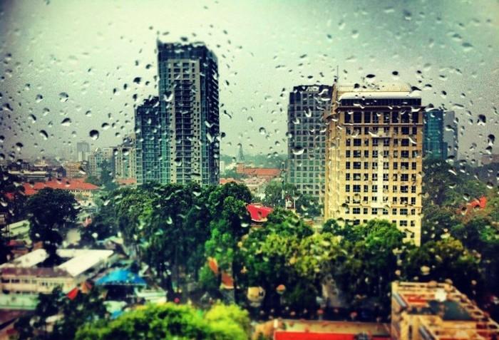 Sài Gòn những ngày mưa.