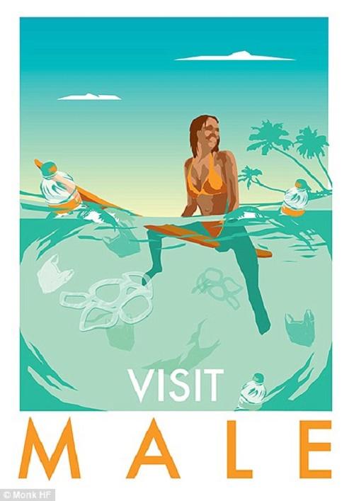 Thiên đường du lịch Maldives là nơi nghỉ dưỡng cao cấp nổi tiếng mà rất nhiều người ao ước đặt trên tới. Song, ngay giữa thủ đô Male của đất nước này lại xuất hiện cảnh bơi ván lướt sóng trong nước biển đầy rác.