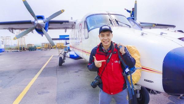 Trải nghiệm sân bay nguy hiểm nhất thế giới. Máy bay này chỉ chở được 12 người, do tiền đình mình kém nên bị ù tai trong cả chuyến đi.