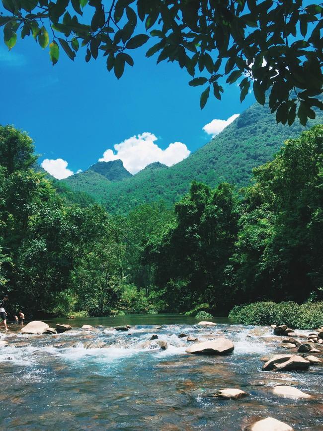 Những bãi đá, hàng cây là lựa chọn tuyệt vời để có những bức ảnh đẹp.