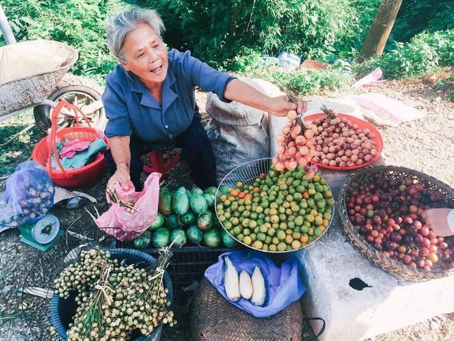 Đang đổ đèo bắt gặp bà cụ dễ thương bán hoa quả phải dừng lại mua cho bằng được