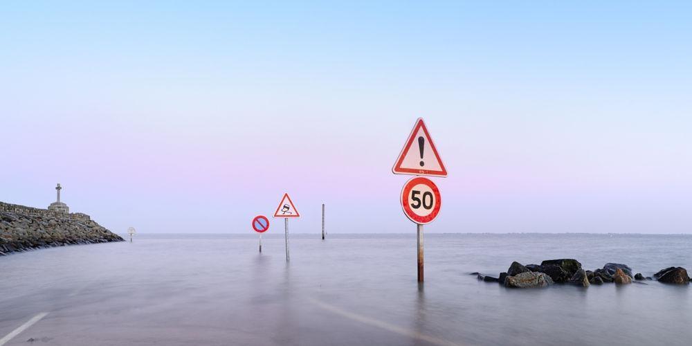 Khi Le Passage du Gois chìm hoàn toàn dưới mặt nước