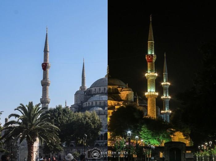 Thánh đường Hồi giáo Sultanahmet còn được gọi là Thánh đường Xanh vì gạch ốp tường và nội thất có màu xanh.