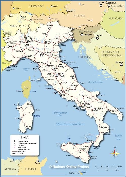 Bắc - Nam chia cắt:Đây là điều mà bạn không nên đề cập khi nói chuyện với người Italy, trừ phi bạn muốn mở ra một cuộc tranh cãi.