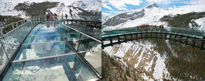 Cầu kính Glacier (sông băng) - Canada: