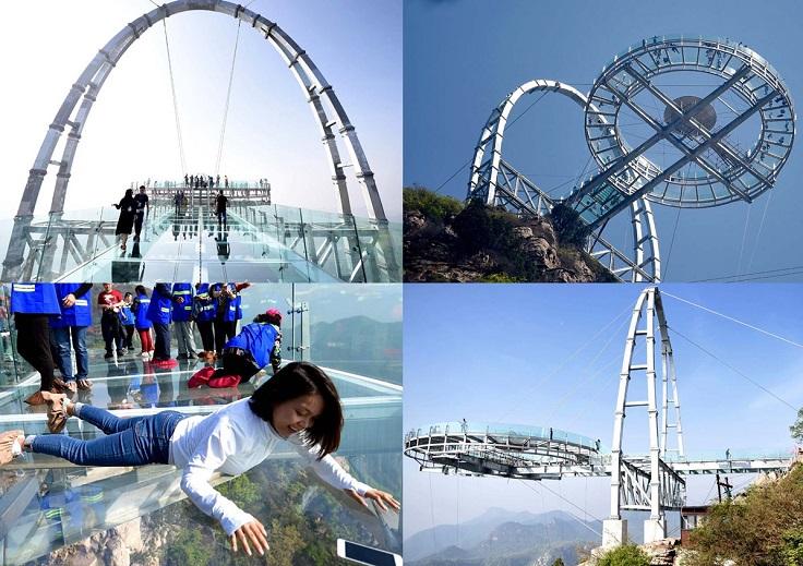 Cầu kính Đĩa bay, hẻm núi Sĩ Lâm – Bắc Kinh, Trung Quốc