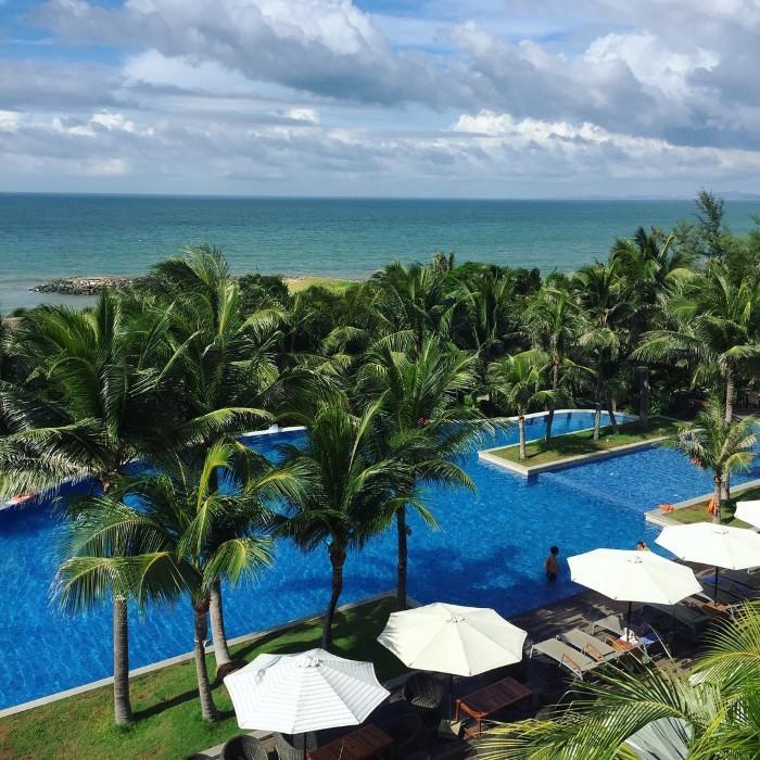 View xanh mát của The Cliff Resort & Residences Phan Thiết- Ảnh: hanshal