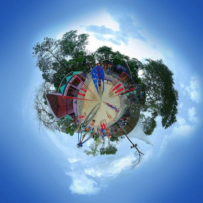 Công viên Thỏ Trắng với góc nhìn 360 độ từ trên cao