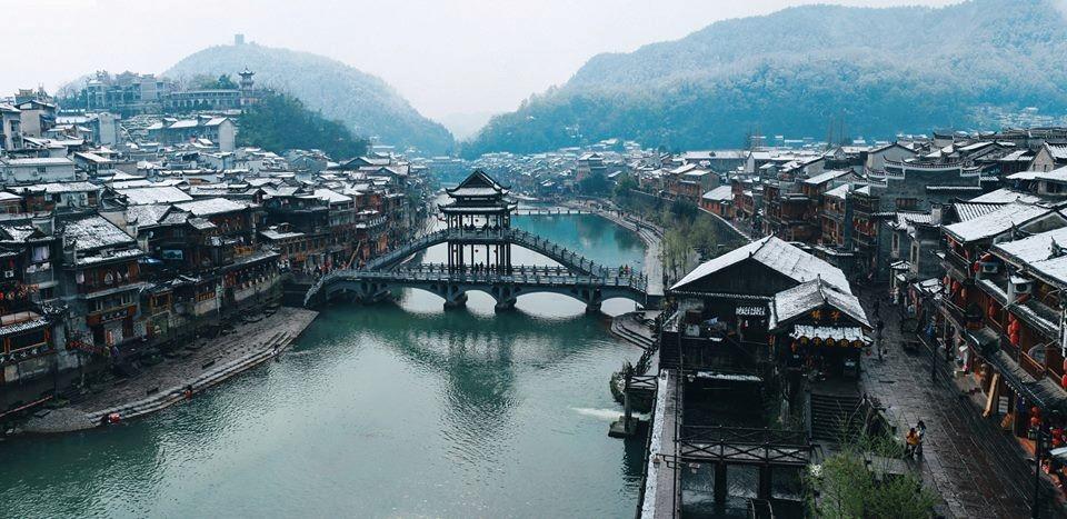 Phượng Hoàng cổ trấn mùa tuyết rơi