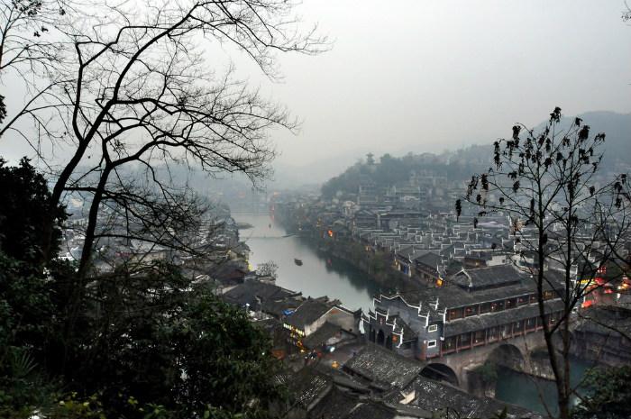 Làn khói sương mờ ảo đầu mùa đông
