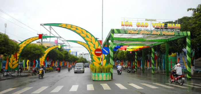 Đường phố Sóc Trăng ngày hội Lúa Gạo Việt Nam