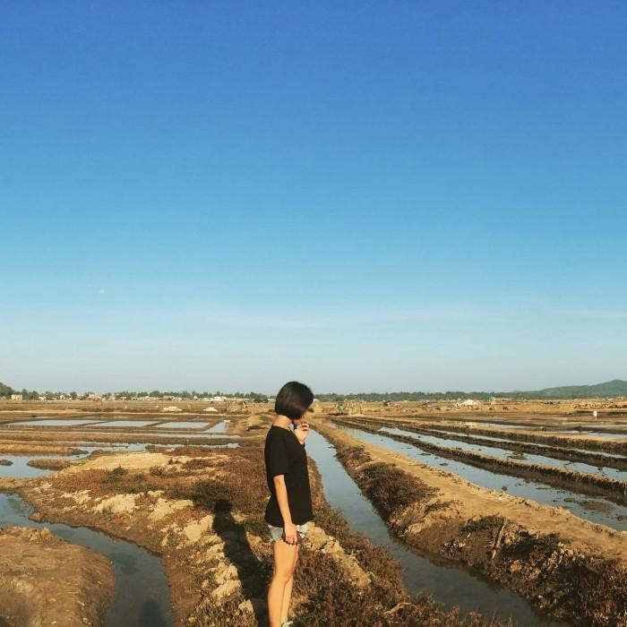 Một góc ruộng muối