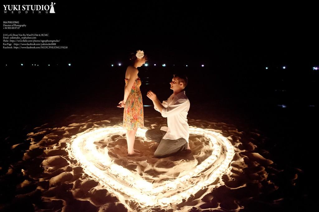 Chàng trai cầu hôn người ấy trên đảo ngọc