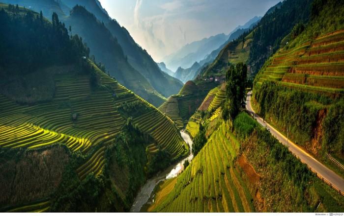 Sông Nho Quế bên đèo cheo leo - Ảnh: Sưu tầm