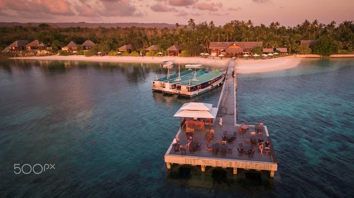 Resort bên biển nơi đảo Wakatobi cũng mang vẻ an yên