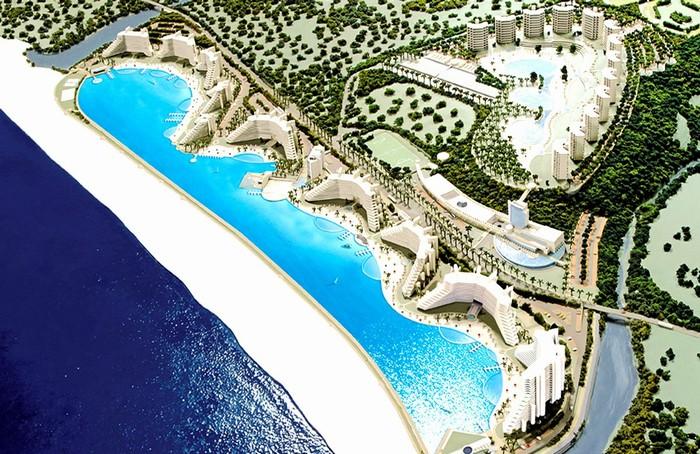 Choáng ngợp trước bể bơi khổng lồ nhất thế giới