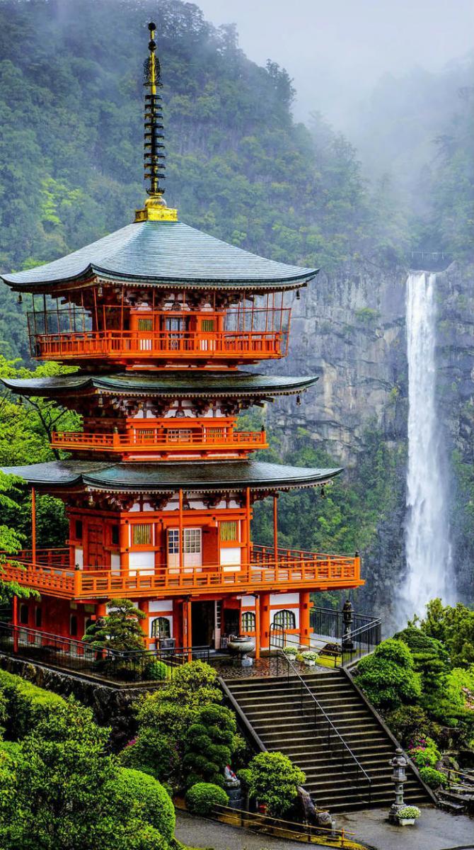 Chùa Seigantoji và thác Nachi no Taki