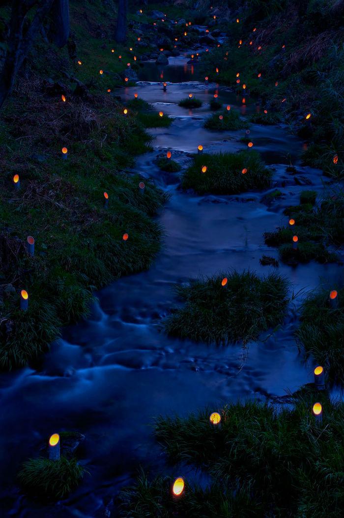 Lễ hội ánh sáng tre ở Taketa