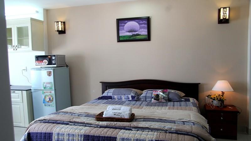 Phòng ngủ khá ấm cúng, tiện nghi ở khách sạn Oriental Vũng Tàu