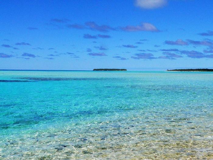 Nước trong vắt ở đảo Palmerston