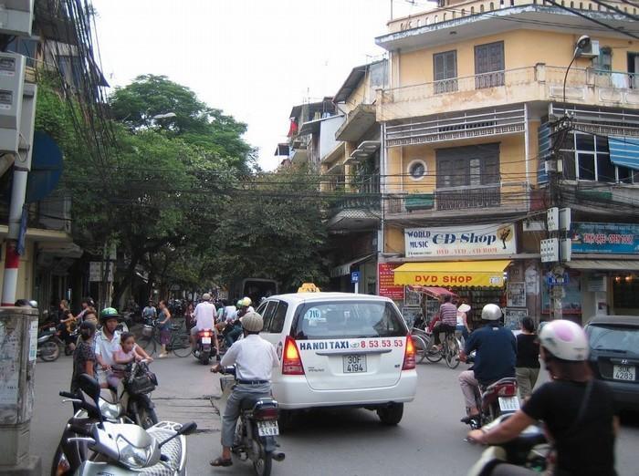 Giao thông ở Hà Nội buổi sáng