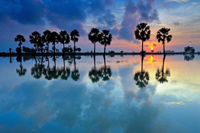 Bình minh tại Châu Đốc - Ảnh: Tuan Pham
