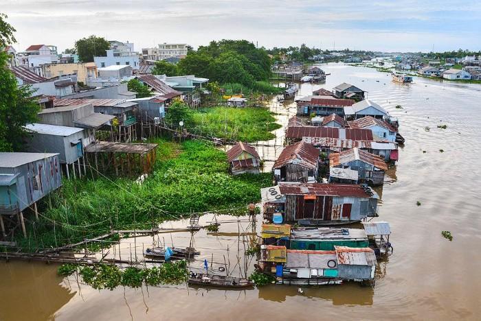 Châu Đốc mùa nước lên - Ảnh: Tam Duy