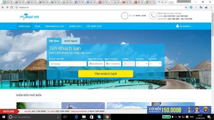 Đặt phòng khách sạn giá rẻ tại Mytour.vn