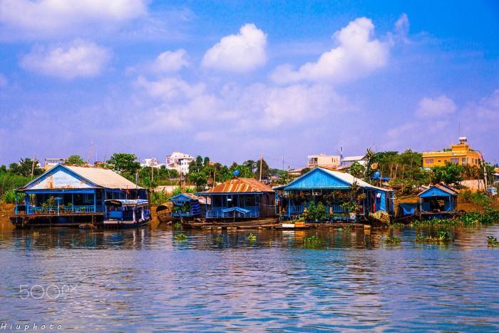 Làng nổi Châu Đốc – vẻ đẹp vùng sông nước - Ảnh: Hieu Dao