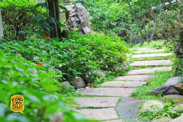 Lối đi xinh đẹp dẫn bước vào bạn khu vườn diệu kỳ giữa lòng phố núi Đà Lạt