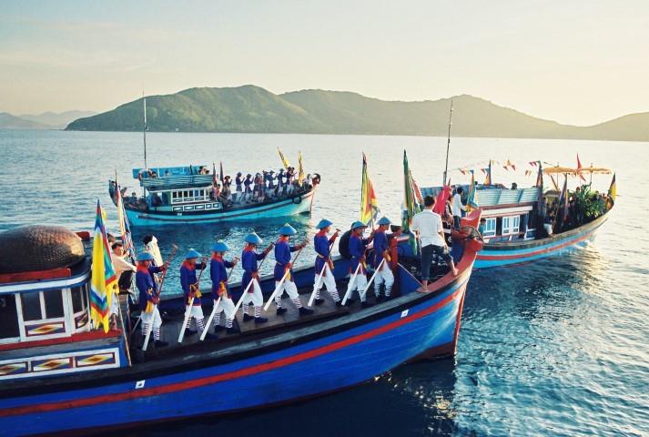 Một phần lễ hội cầu ngư ở vùng biển Nha Trang