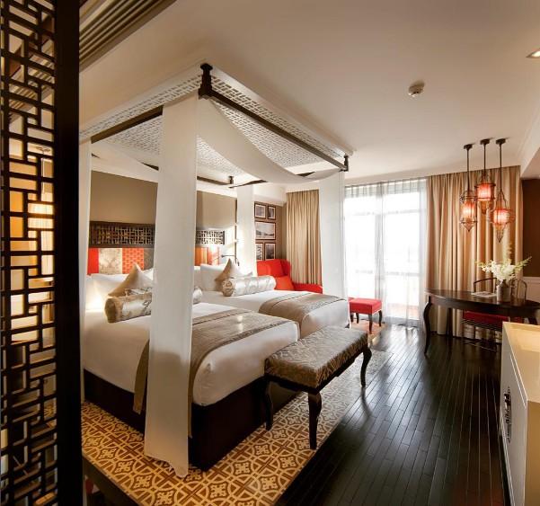 Phòng ngủ với nội thất sang trọng