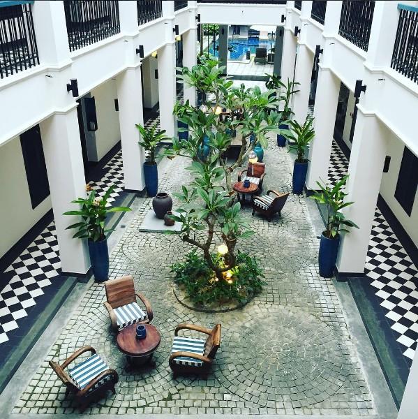 Sảnh tiếp khách và nghỉ dưởng ở Maison Vy