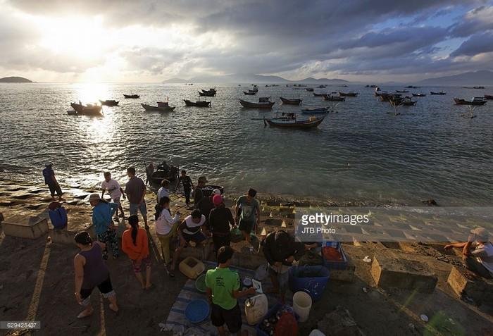 Bình minh thức giấc cũng là lúc chợ cá bắt đầu họp
