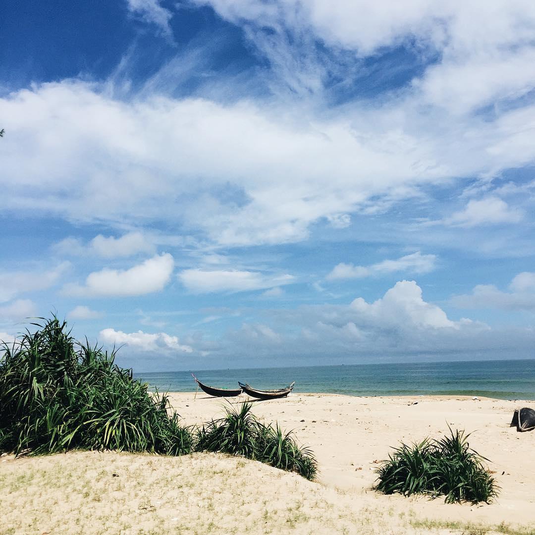 Bờ cát trắng thoai thoải thơ tình - Ảnh: @hiensingle.95