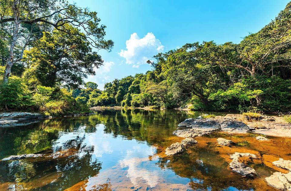 Khung cảnh nguyên sơ đẹp nao lòng trên đỉnh thác - Ảnh: Nguyễn Xuân Tuyến