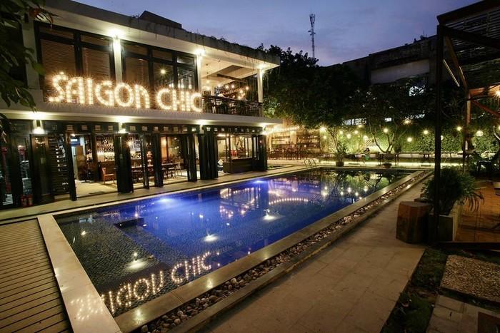Saigon Chic với không gian thoáng đãng